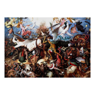 """Pieter Bruegel's """"The Fall Of The Rebel Angels"""" Poster"""