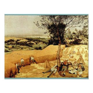 Pieter Bruegel's The Harvesters (1565) 11 Cm X 14 Cm Invitation Card