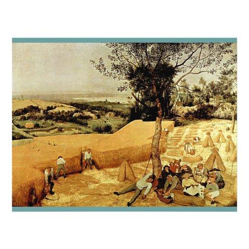 Pieter Bruegel's The Harvesters (1565) Custom Flyer