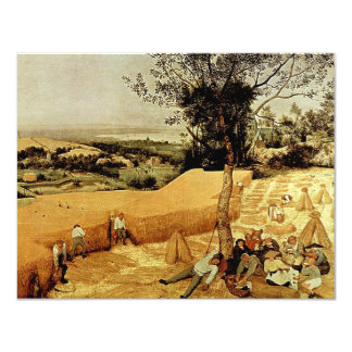 Pieter Bruegel's The Harvesters (1565) 4.25x5.5 Paper Invitation Card