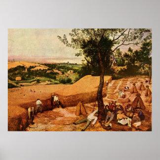 Pieter Bruegel's The Harvesters (1565) Poster