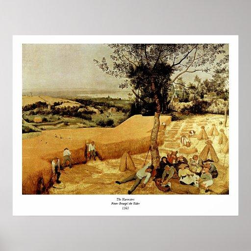 Pieter Bruegel's The Harvesters (1565) Print