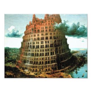 "Pieter Bruegel's The ""Little"" Tower of Babel Invitation"