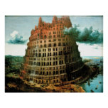 "Pieter Bruegel's The ""Little"" Tower of Babel Poster"