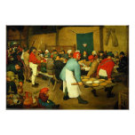 Pieter Bruegel's The Peasant Wedding (1568) Poster