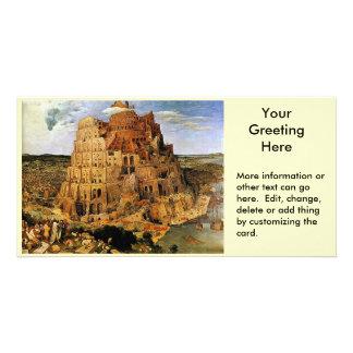 "Pieter Bruegel's ""The Tower of Babel"" (circa 1563) Custom Photo Card"
