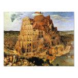 "Pieter Bruegel's ""The Tower of Babel"" (circa 1563) 11 Cm X 14 Cm Invitation Card"