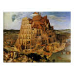 "Pieter Bruegel's ""The Tower of Babel"" (circa 1563) Poster"