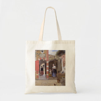 Pieter de Hooch- Courtyard of a house in Delft Tote Bags