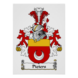 Pieters Family Crest Poster