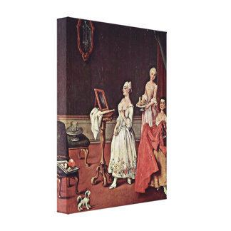 Pietro Longhi - Dame from toilet Canvas Prints