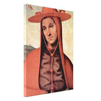 Pietro Perugino - Bernardo degli Uberti Stretched Canvas Prints