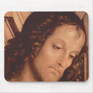 Pietro Perugino- Madonna Enthroned with saints Mouse Pads