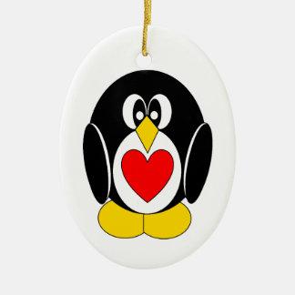 Pietro the Penguin Heart Belly Christmas Tree Ornaments