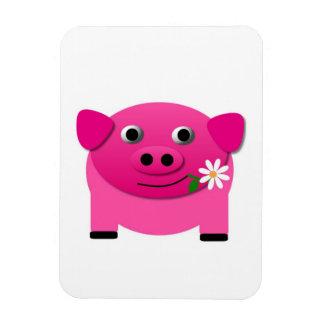 pig-210010  pig pink piglet sweet cute pets comic rectangle magnet
