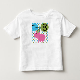 Pig 3rd Birthday Toddler T-Shirt