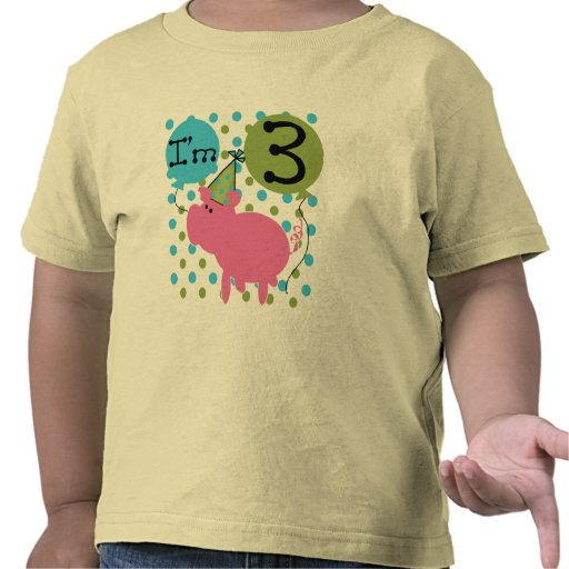 Pig 3rd Birthday Tshirts and Gifts