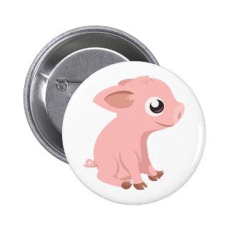 pig-576570 HUMBLE HAPPY PINK PIG PIGLET PIGGY CART 6 Cm Round Badge