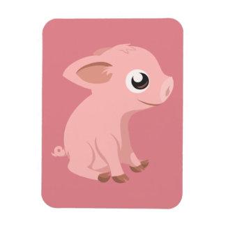 pig-576570 HUMBLE HAPPY PINK PIG PIGLET PIGGY CART Rectangular Magnet