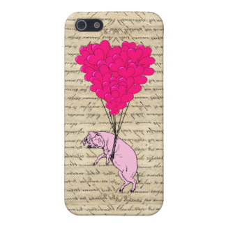 Pig and heart balloons iPhone 5/5S cover