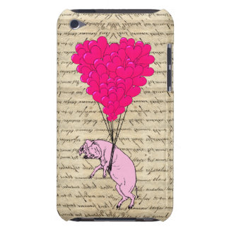 Pig and heart balloons iPod touch covers