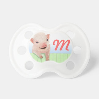 Pig and Monogram Pacifier