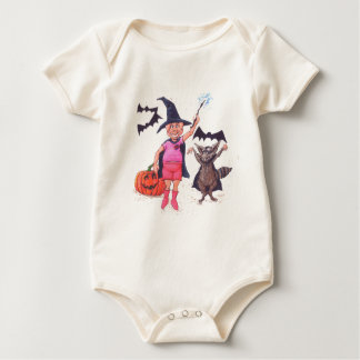 Pig and Raccoon Halloween Baby Bodysuits