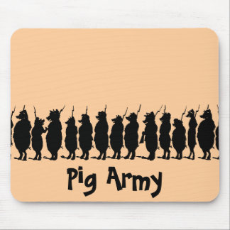 Pig Army Mouse Pad