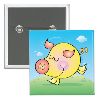 Pig badge button buttons