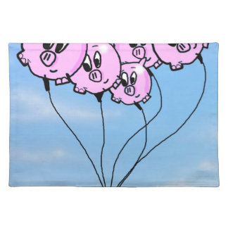 Pig Balloons Placemats