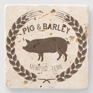 Pig & Barley Natural Stone Coaster