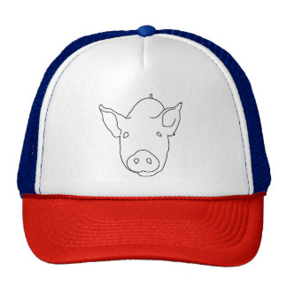 PIG (BLACK AND WHITE DRAWING) Trucker Hat