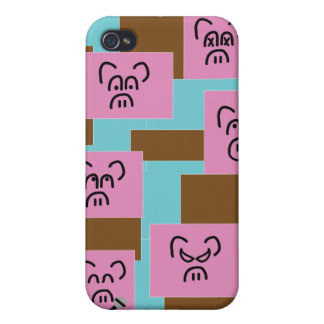 Pig Blocks iPhone 4 Case