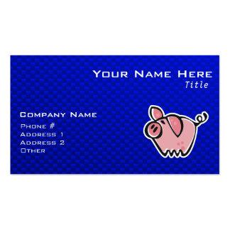 Pig; Blue Pack Of Standard Business Cards