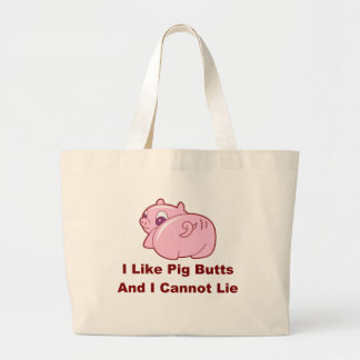 Pig Butts Large Tote Bag