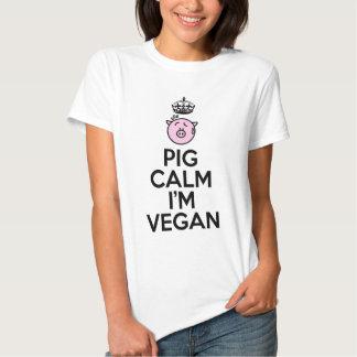 Pig calm I'm Vegan Tshirts