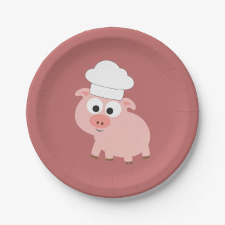 Pig Chef 7 Inch Paper Plate