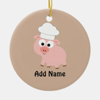 Pig Chef Christmas Ornament