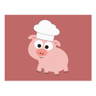 Pig Chef Postcard