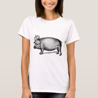 Pig Crown Royal Queen Big Piggy T-Shirt