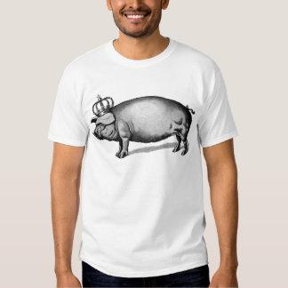 Pig Crown Royal Queen Big Piggy T Shirt