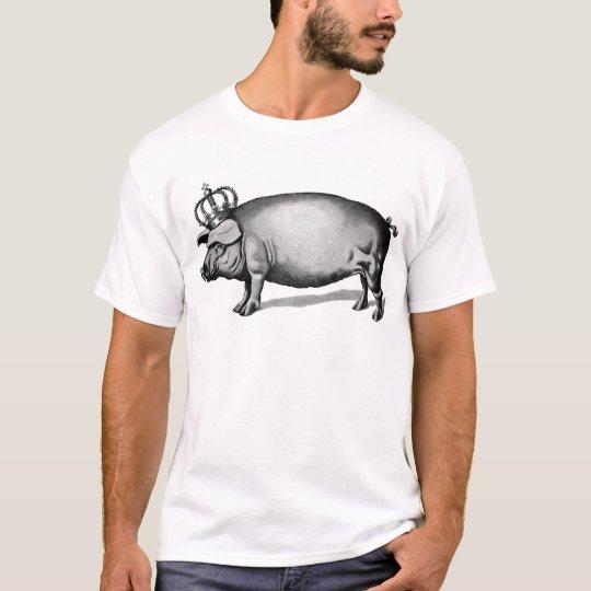 Pig Crown Royal Queen Big Piggy T-Shirt