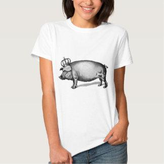 Pig Crown Royal Queen Big Piggy T-shirts