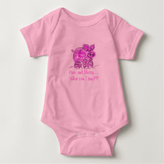 pig-cute and messy... baby bodysuit