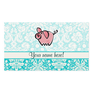 Pig; Cute Business Card Templates