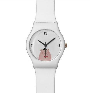 Pig Cute Funny Elegant Gentleman Pure White Cool Watch