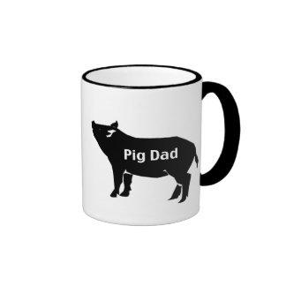 Pig Dad Ringer Mug