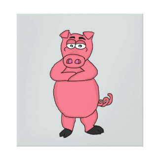 Pig design cards and paper products canvas print