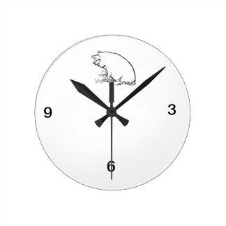 Pig Design Round Clock