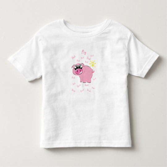Pig Design Toddler T-Shirt